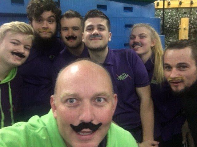 Clip 'n Climb Cambridge raising money for Movember 2019