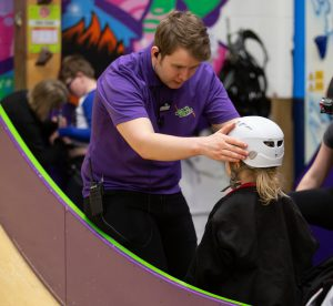 Our friendly instructors are always on hand to help people climb at Clip 'n Climb Cambridge.