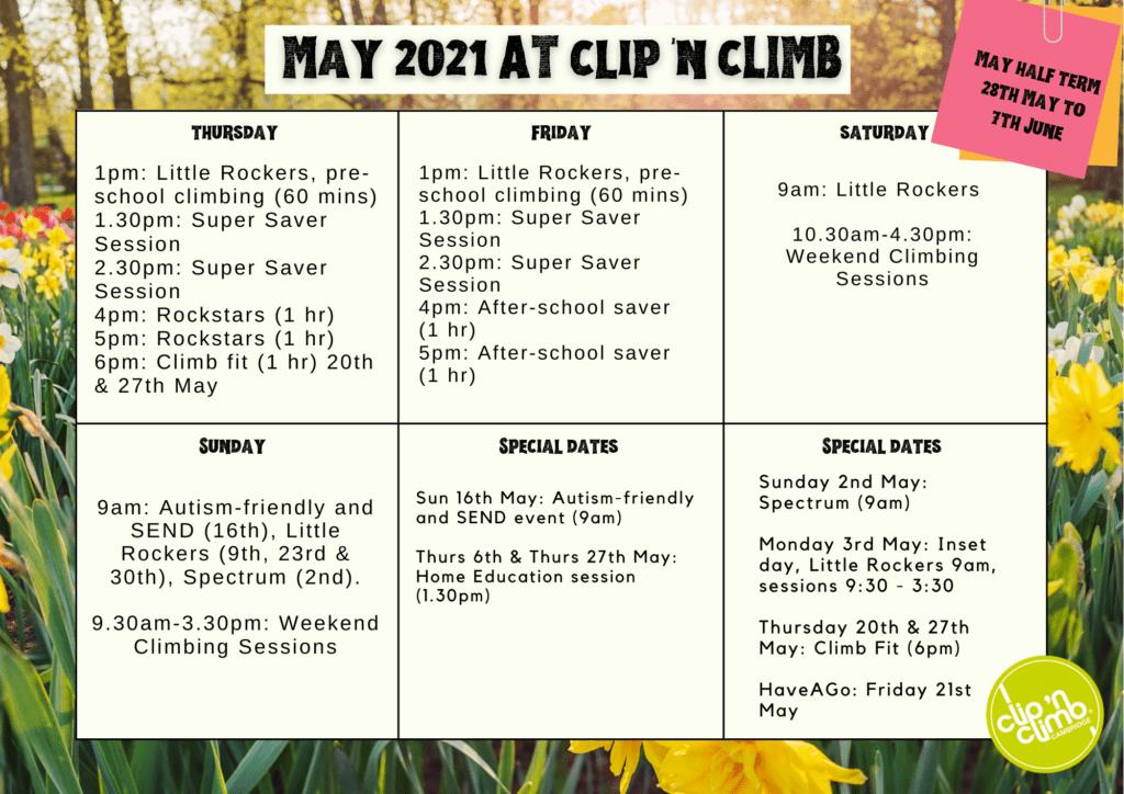 May 2021 at Clip 'n Climb Cambridge