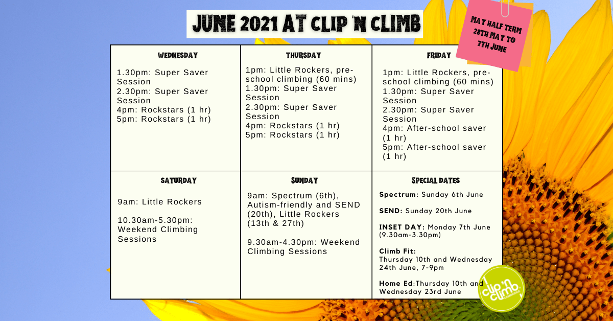 What's on at Clip 'n Climb Cambridge