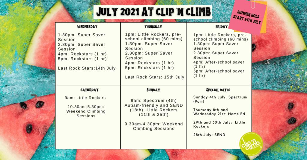 Cambridge July 21 schedule - wordpress